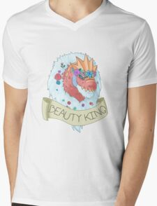 Flower Crown Tyrantrum - Beauty King Mens V-Neck T-Shirt