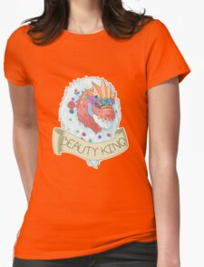 Flower Crown Tyrantrum - Beauty King Womens Fitted T-Shirt