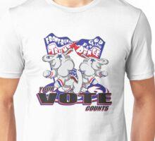 Your Vote Counts - With Patriotic Elephant Unisex T-Shirt