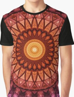 Mandala in pink,red and yellow tones Graphic T-Shirt
