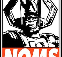 Galactus Noms Obey Design by SquallAndSeifer