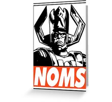 Galactus Noms Obey Design Greeting Card