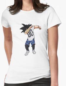 goku dab on em Womens Fitted T-Shirt