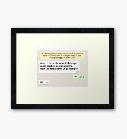 il passaggio Framed Print