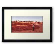 A Swaggies Road Framed Print