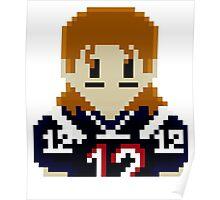 8Bit Tom Brady 3nigma NFL Poster