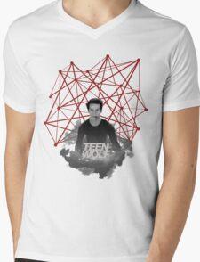 Stiles Stilinski Connected Lines Mens V-Neck T-Shirt