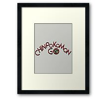 Chinpokomon GO! Framed Print