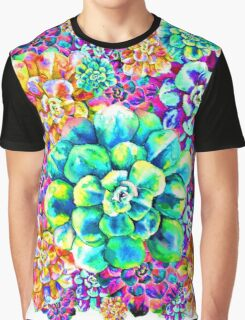Psychadelic Succulents Graphic T-Shirt