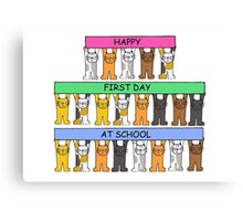 Happy First Day at School Canvas Print