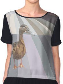 Geometric Duck Chiffon Top