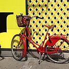 Red bike by Heather Thorsen
