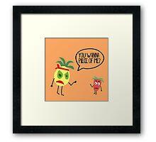 Food Fight! Framed Print