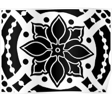 Black and White Bold Abstract Poster