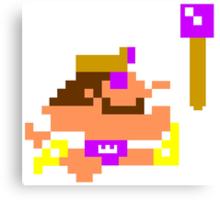 8-Bit King Canvas Print