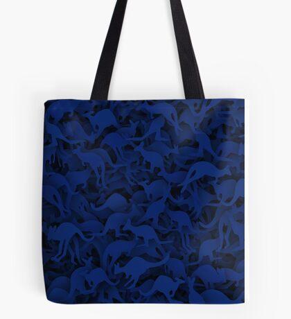 Deep blue kangaroos Tote Bag