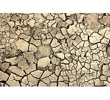 Drought Stricken Earth - Phone Cases, Pillows and More Photographic Print