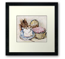 Beatrix Potter, Momma Mouse and Babies Framed Print