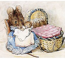 Beatrix Potter, Momma Mouse and Babies Photographic Print