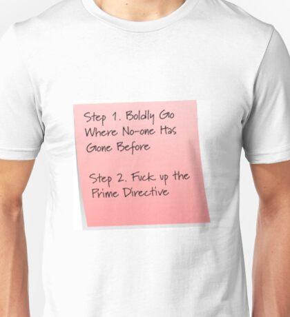 Starship Captain To-do List Unisex T-Shirt