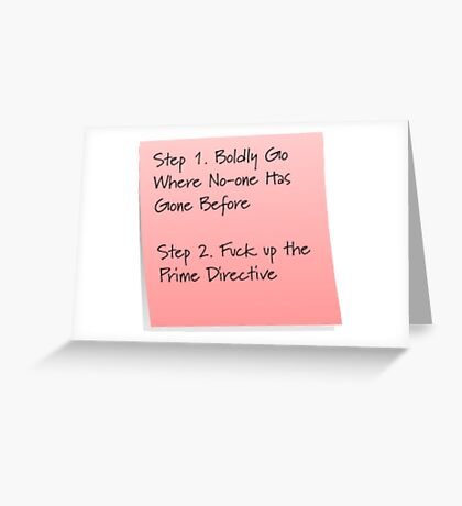 Starship Captain To-do List Greeting Card