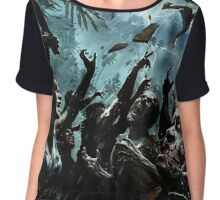 Zombie Apocalypse 2016 New Designs Art Chiffon Top
