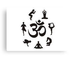 Yoga Om Canvas Print