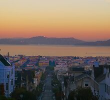 Dawn San Francisco Bay by David Denny