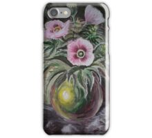 Still life with Papaver somniferum and Cannabis indica iPhone Case/Skin