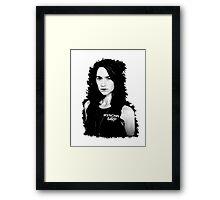 Wynona Earp BW Pop art Framed Print