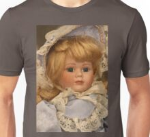 blond doll head Unisex T-Shirt