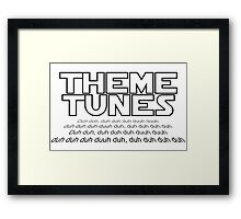 Theme tunes Framed Print