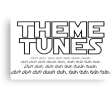 Theme tunes Canvas Print
