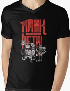Amok and Totally Metal Mens V-Neck T-Shirt