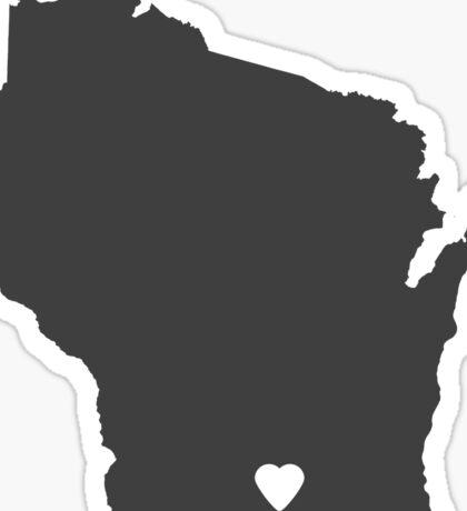 Wisconsin Charcoal Sticker
