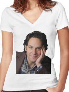 Paul Rudd Women's Fitted V-Neck T-Shirt
