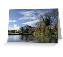 Beside The River, Burton on Trent Greeting Card