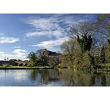 Beside The River, Burton on Trent Photographic Print