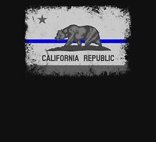 Blue Line California State Flag Unisex T-Shirt
