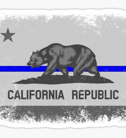 Blue Line California State Flag Sticker