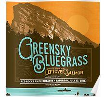 greensky bluegrass summer tour 2016 red rocks amphitheatre Poster