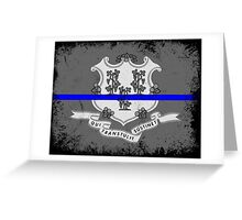 Blue Line Connecticut State Flag Greeting Card