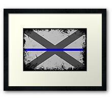 Blue Line Alabama State Flag Framed Print