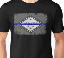 Blue Line Arkansas State Flag Unisex T-Shirt