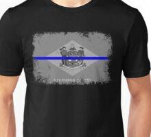 Blue Line Delaware State Flag Unisex T-Shirt