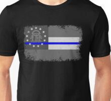 Blue Line Georgia State Flag Unisex T-Shirt