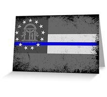 Blue Line Georgia State Flag Greeting Card