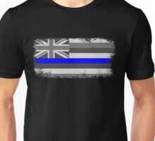 Blue Line Hawaii State Flag Unisex T-Shirt