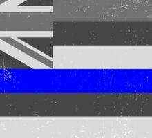 Blue Line Hawaii State Flag Sticker