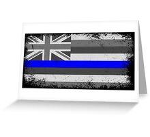 Blue Line Hawaii State Flag Greeting Card